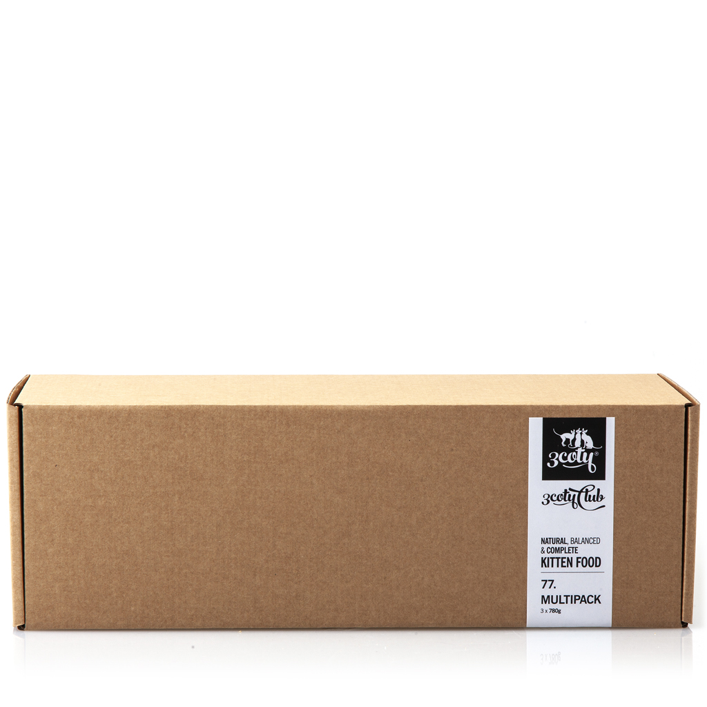3coty 77.B Multipack dla Kociąt 3 x 780g