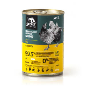 3coty 02. Chicken and Spirulina 390g natural monoprotein cat food
