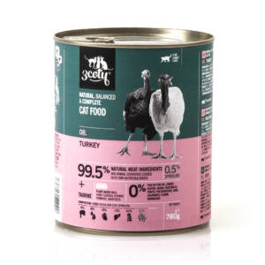 3coty 08. Turkey and Spirulina 780g natural monoprotein cat food
